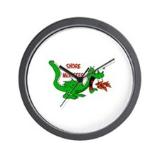 Snore Monster Wall Clock