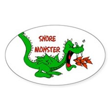 Snore Monster Oval Decal