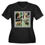 Goldens of Many Talents Women's Plus Size V-Neck D