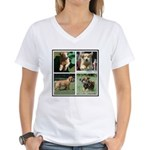 Goldens of Many Talents Women's V-Neck T-Shirt