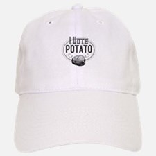 I Vote Potato Baseball Baseball Cap