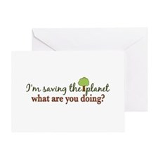 Saving the Planet Greeting Card