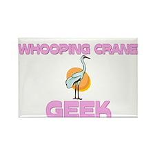 Whooping Crane Geek Rectangle Magnet