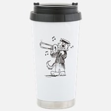 CatoonsT Trombone Cat Travel Mug
