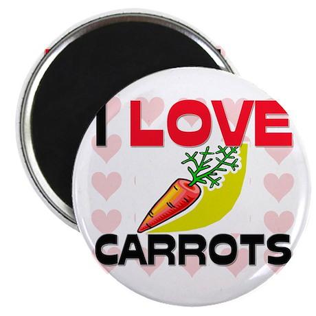 I Love Carrots Magnet