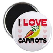"I Love Carrots 2.25"" Magnet (10 pack)"