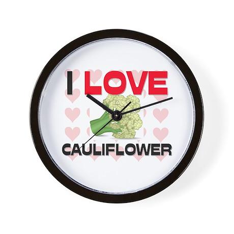 I Love Cauliflower Wall Clock