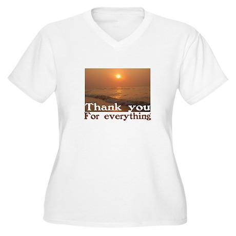 Thank You Women's Plus Size V-Neck T-Shirt