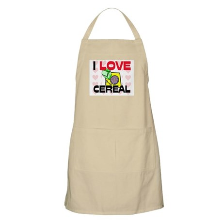 I Love Cereal BBQ Apron