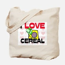 I Love Cereal Tote Bag