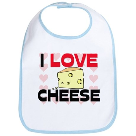 I Love Cheese Bib