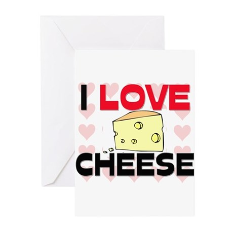 I Love Cheese Greeting Cards (Pk of 10)