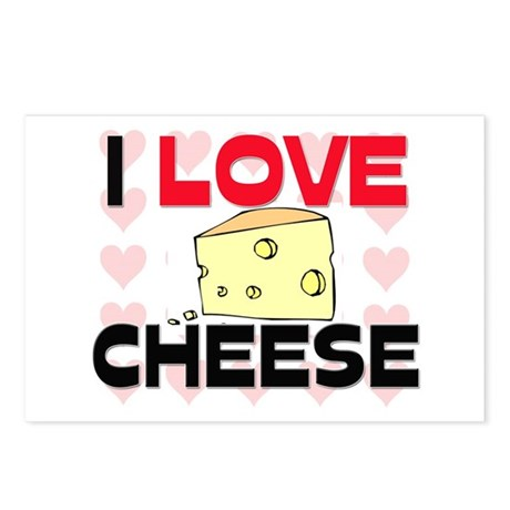 I Love Cheese Postcards (Package of 8)