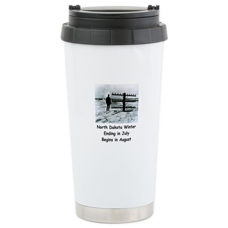 Winter in North Dakota Stainless Steel Travel Mug