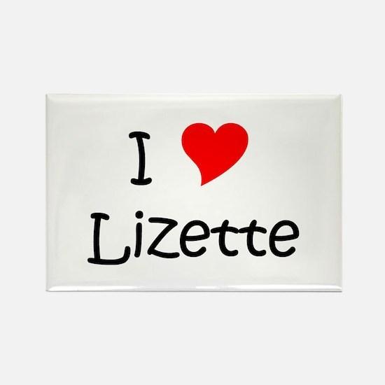 Funny Lizette Rectangle Magnet