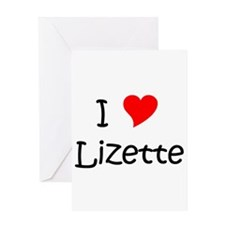 Cute Lizette Greeting Card