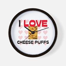 I Love Cheese Puffs Wall Clock