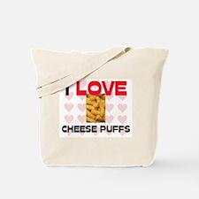 I Love Cheese Puffs Tote Bag