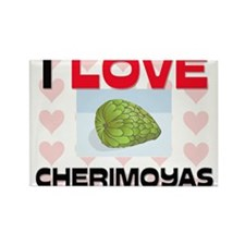 I Love Cherimoyas Rectangle Magnet