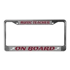 Music Teacher License Plate Frame