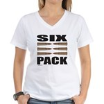SIX PACK Women's V-Neck T-Shirt