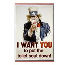Put the Seat Down! Postcards (Package of 8)