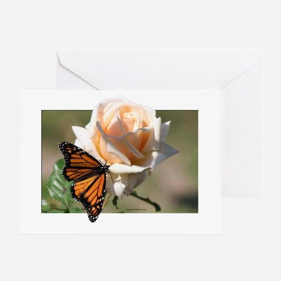 Jan's Rose & Monarch Greeting Card