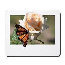 Jan's Rose & Monarch Mousepad