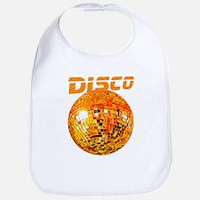 Orange Disco Ball Bib