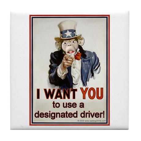 Designated Driver Tile Coaster