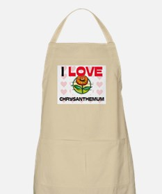 I Love Chrysanthemum BBQ Apron