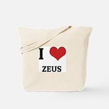 I Love Zeus Tote Bag