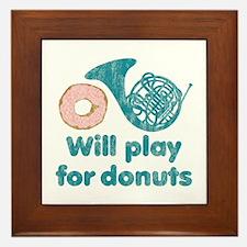 Will Play Horn for Donuts Framed Tile