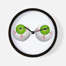 Halloween Eyeballs Wall Clock