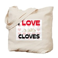 I Love Cloves Tote Bag