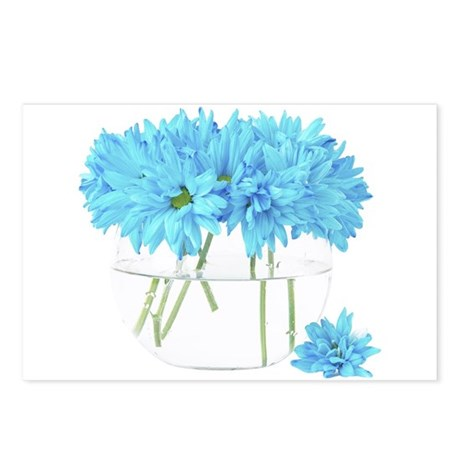 Bowl of Blue Flowers Postcards (Package of 8)