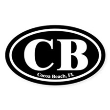 Cocoa Beach CB Euro Oval Decal Oval Decal