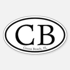 Cocoa Beach CB Euro Oval Oval Decal