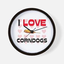 I Love Corndogs Wall Clock