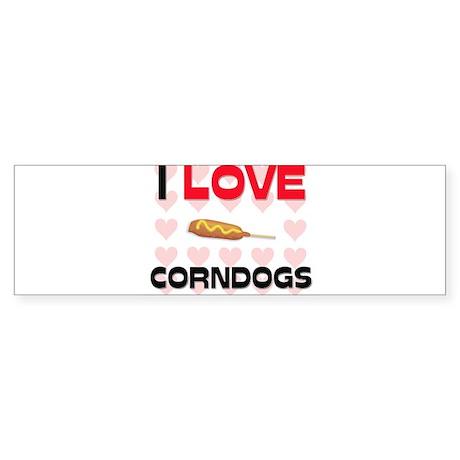 I Love Corndogs Bumper Sticker