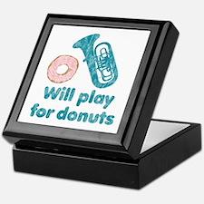 Will Play Tuba for Donuts Keepsake Box