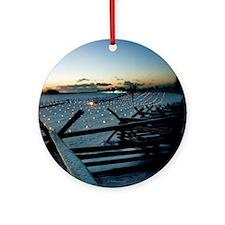 Icy Fenceline Ornament (Round)