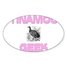 Tinamou Geek Oval Decal