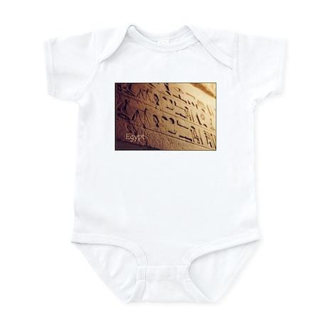 Egypt Hieroglyphic Wall Photo Infant Bodysuit