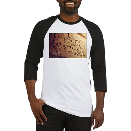 Egypt Hieroglyphic Wall Photo Baseball Jersey