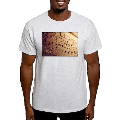 Egypt Hieroglyphic Wall Photo Light T-Shirt