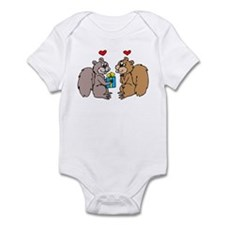Squirrels In Love Infant Bodysuit