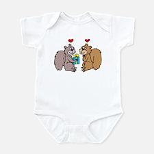 Squirrels In Love Infant Bodysuit