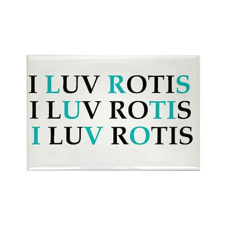 I love Rotis Rectangle Magnet (10 pack)