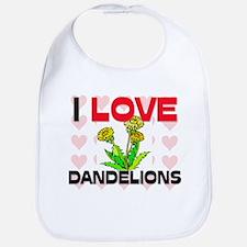 I Love Dandelions Bib